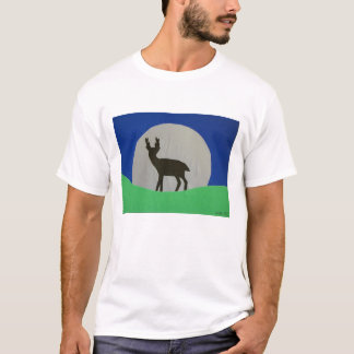 黒い雄鹿の服装 Tシャツ