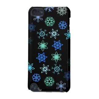 黒い雪片の突風パターン iPod TOUCH 5G ケース