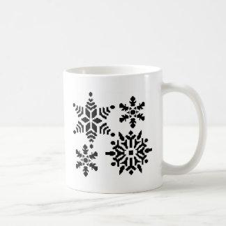 黒い雪片 コーヒーマグカップ
