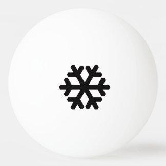 黒い雪片 卓球ボール