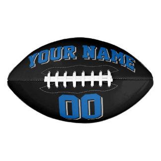 黒い青いおよび銀製灰色の習慣のフットボール アメリカンフットボール