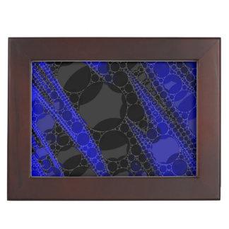 黒い青の抽象芸術 ジュエリーボックス
