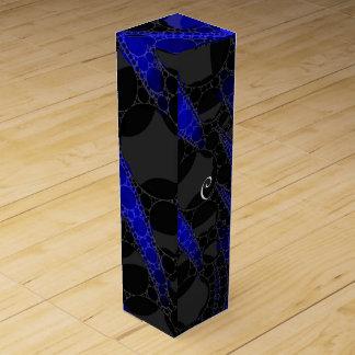 黒い青の抽象芸術 ワインギフトボックス