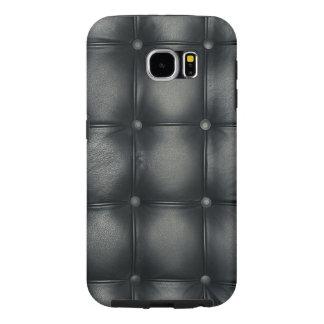 黒い革物質的な質感 SAMSUNG GALAXY S6 ケース