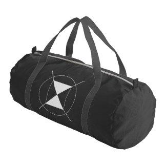黒い革紐と黒いカスタムなDuffleの体育館のバッグ ジムバッグ