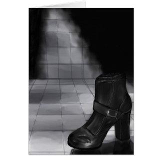 黒い靴 グリーティングカード