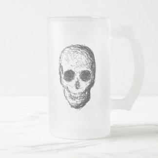 黒い頭骨 フロストグラスビールジョッキ