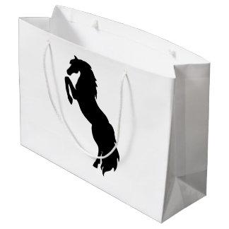 黒い養育馬 ラージペーパーバッグ