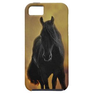 黒い馬のシルエット iPhone SE/5/5s ケース