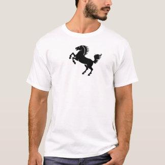 黒い馬のワイシャツ Tシャツ