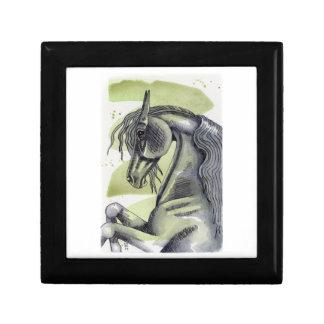黒い馬の蛇紋岩の水彩画の洗浄の養育 ギフトボックス