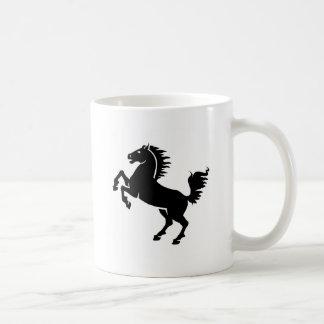 黒い馬の跳躍 コーヒーマグカップ