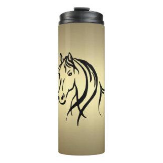 黒い馬頭部の金ゴールド タンブラー