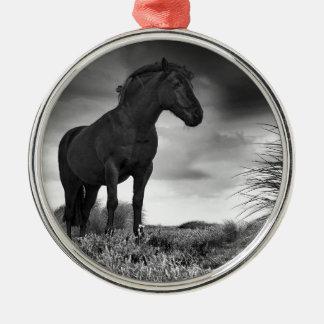 黒い馬 メタルオーナメント