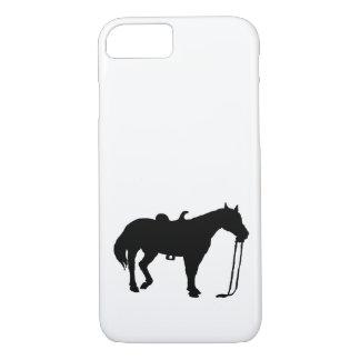 黒い馬 iPhone 7ケース