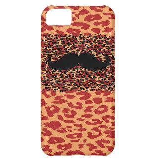 黒い髭およびヒョウのプリント iPhone5Cケース