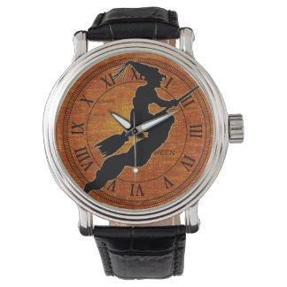黒い魔法使い-オレンジハロウィン 腕時計