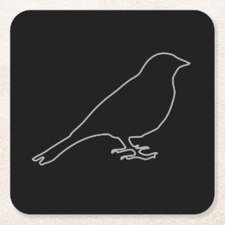 黒い鳥のコースター スクエアペーパーコースター