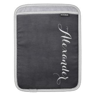 黒い黒板の背景、一流のモノグラム iPadスリーブ