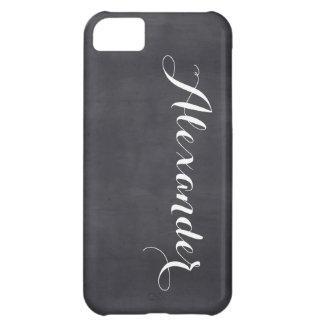 黒い黒板の背景、一流のモノグラム iPhone5Cケース