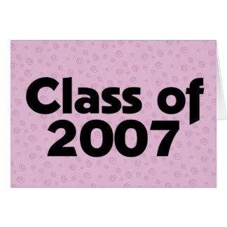黒い2007及び紫色のクラス カード