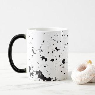 黒い(ばちゃばちゃ)跳ねるのペンキのマグ モーフィングマグカップ