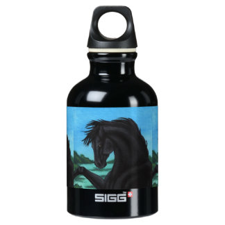 「黒い」馬のコレクション ウォーターボトル