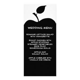 黒いAppleの結婚式メニュー ラックカード