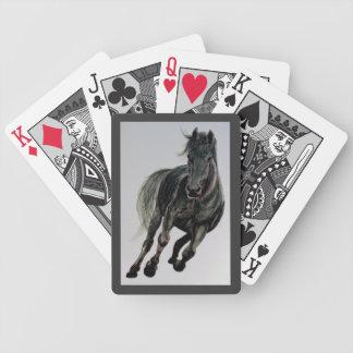 """""""黒いBess」の馬の絵画のトランプ バイスクルトランプ"""