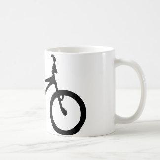 黒いbmxの自転車 コーヒーマグカップ