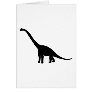黒いBrontosaurusの恐竜の影ディーノ カード