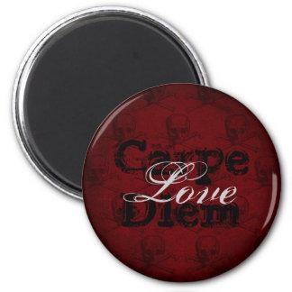黒いCarpe Diem愛どくろ印の~の赤 マグネット