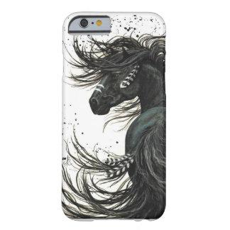 黒いFriesianの馬のiPhone6ケース Barely There iPhone 6 ケース