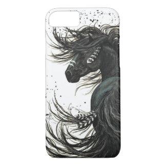 黒いFriesianの馬のiPhone 7の箱 iPhone 8/7ケース