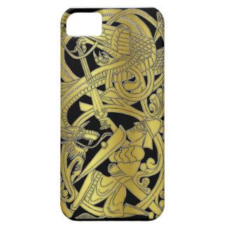 黒いiPhoneのシグルズの金ゴールド iPhone SE/5/5s ケース