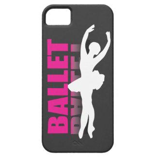 黒いiPhoneの箱のバレエダンサーの白 iPhone SE/5/5s ケース