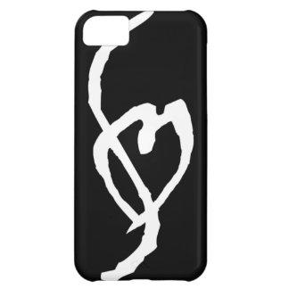 黒いiPhone 5cケースのポルノの印の白 iPhone5Cケース