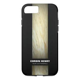 黒いiPhone 7の箱の白い大理石 iPhone 8/7ケース