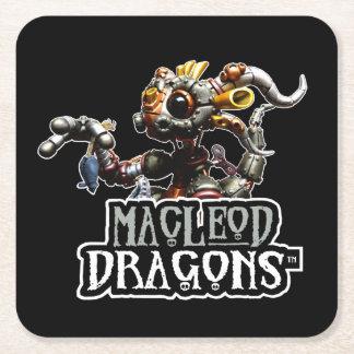 黒いMD Steampunkのドラゴン スクエアペーパーコースター