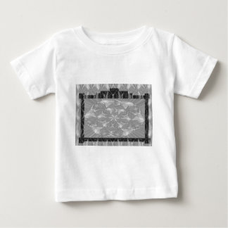 黒いnの白い芸術のフレーム-文字かイメージを加えて下さい ベビーTシャツ