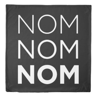 黒いNom Nom Nom 掛け布団カバー