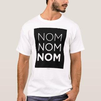 黒いNom Nom Nom Tシャツ