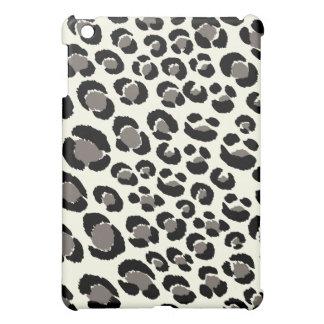 黒いPixDezinesのヒョウ+灰色 iPad Miniケース