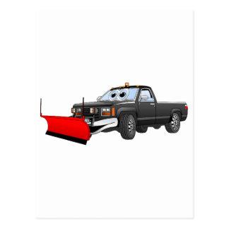 黒いRの除雪車は漫画を取ります ポストカード