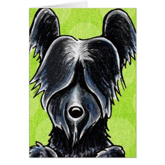 黒いSkyeテリアのポートレートのカスタム グリーティングカード
