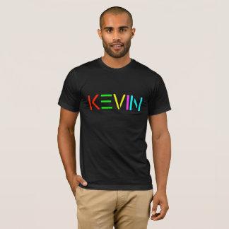 黒いTシャツのケビンの精神のロゴ Tシャツ