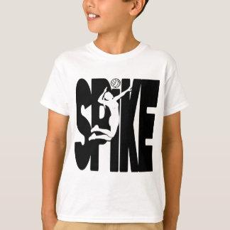 黒いVBのスパイク Tシャツ