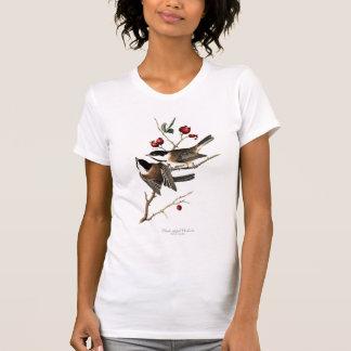 黒おおわれた《鳥》アメリカゴガラの女性のTシャツ Tシャツ