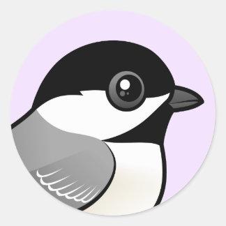 黒おおわれた《鳥》アメリカゴガラ ラウンドシール