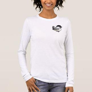 黒おおわれた《鳥》アメリカゴガラ 長袖Tシャツ